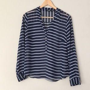 A.N.A. Roll tab blouse